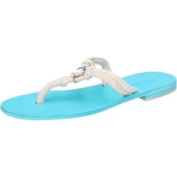 Chaussures Femme Sandales et Nu-pieds Eddy Daniele chaussures femme  sandales blanc corda celeste con cristalli swa blanc