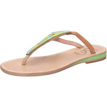 Chaussures Femme Sandales et Nu-pieds Eddy Daniele chaussures femme  sandales multicolor cuir perline aw384 multicolor