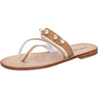 Chaussures Femme Sandales et Nu-pieds Eddy Daniele chaussures femme  sandales marron daim perline ax774 marron