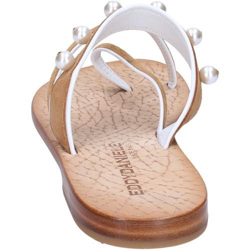 sandales marron daim perline ax774 Eddy Daniele sandales et nu-pieds femme marron