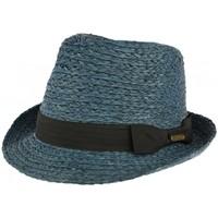 Accessoires textile Chapeaux Léon Montane Petit chapeau paille bleue raphia Valman Bleu