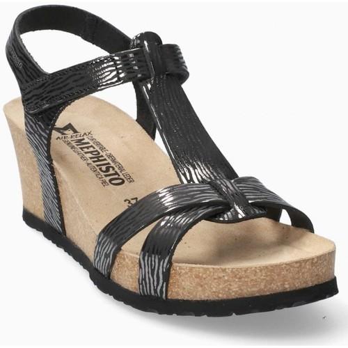 Mephisto Sandales lIVIANE Noir - Livraison Gratuite avec  - Chaussures Sandale Femme