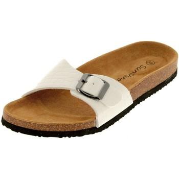 Chaussures Femme Mules Treeker9 Eva  croco blanc Blanc