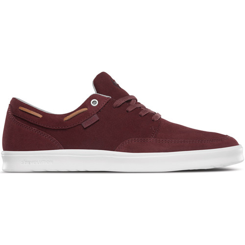 Etnies DORY SC BURGUNDY TAN WHITE  - Chaussures Baskets basses