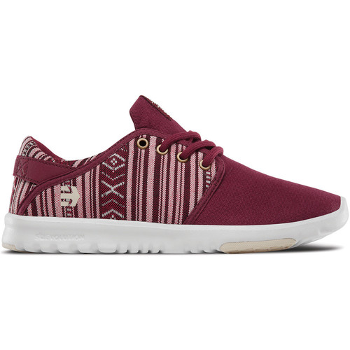 Etnies SCOUT WOS BURGUNDY TAN  - Chaussures Baskets basses Femme