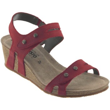 Chaussures Femme Sandales et Nu-pieds Mephisto Mina Rouge cuir