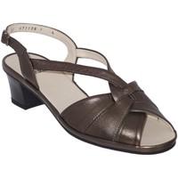 Chaussures Femme Sandales et Nu-pieds Marco ESTELLE Bronze cuir