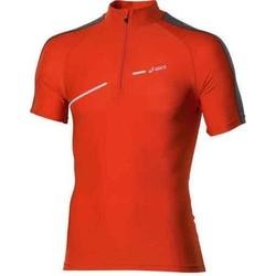 Vêtements Femme T-shirts manches courtes Asics 1/2 ZIP TOP FW12 421016-0540 pomarańczowy