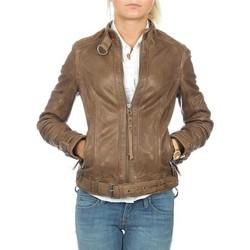 Vêtements Femme Vestes / Blazers Wrangler skórzana  Montana WR4044ZCBR brązowy