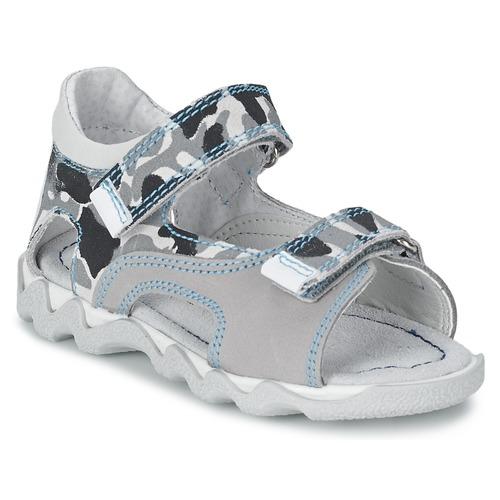 Chaussures Garçon Sandales et Nu-pieds Citrouille et Compagnie MISQUINE Blanc / Militaire