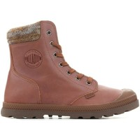 Chaussures Femme Boots Palladium Pampa Knit LP F 95172-733-M brązowy