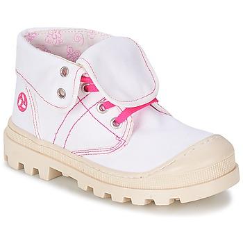 Chaussures Fille Boots Citrouille et Compagnie BASTINI Blanc