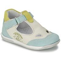 Chaussures Garçon Sandales et Nu-pieds Citrouille et Compagnie XOULOU Blanc / Bleu / Vert