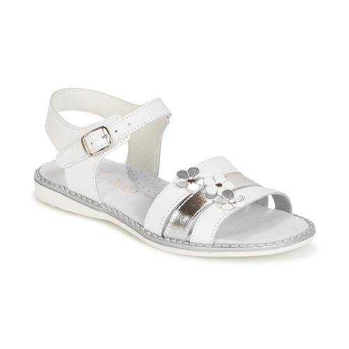 Chaussures Fille Sandales et Nu-pieds Citrouille et Compagnie KATAGUE Blanc