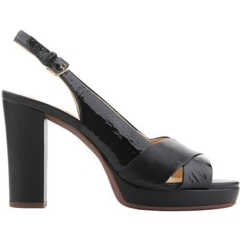 Chaussures Femme Sandales et Nu-pieds Geox D Mauvelle C - Naplak+ Geobuck D724LC 06758 C9999 czarny