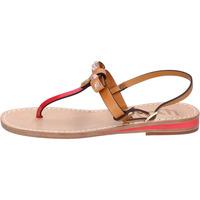 Chaussures Femme Sandales et Nu-pieds Eddy Daniele sandales cuoio cuir rouge cuir verni ax766 rouge