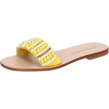 Chaussures Femme Sandales et Nu-pieds Eddy Daniele chaussures femme  sandales jaune textile perline aw452 jaune