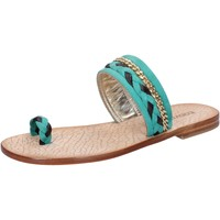 Chaussures Femme Sandales et Nu-pieds Eddy Daniele sandales vert daim marron cuir ax720 vert
