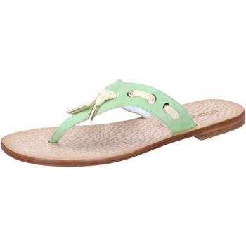 Chaussures Femme Sandales et Nu-pieds Eddy Daniele chaussures femme  sandales vert daim aw326 vert
