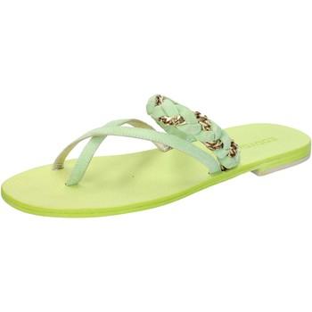 Chaussures Femme Sandales et Nu-pieds Eddy Daniele sandales vert daim aw169 vert
