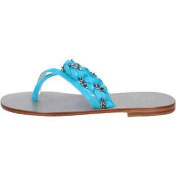 Chaussures Femme Sandales et Nu-pieds Eddy Daniele sandales celeste daim aw193 bleu