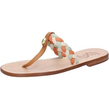 Chaussures Femme Sandales et Nu-pieds Eddy Daniele chaussures femme  sandales multicolor corda cuir ax953 multicolor