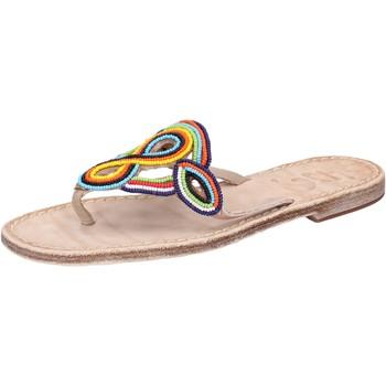 Chaussures Femme Sandales et Nu-pieds Eddy Daniele chaussures femme  sandales multicolor cuir perline av408 multicolor