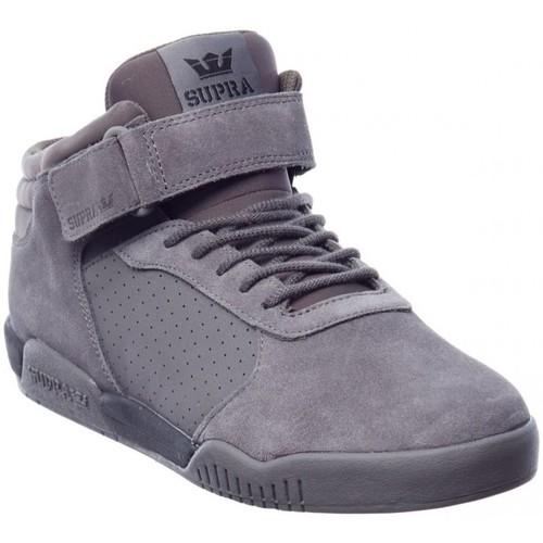 Supra ELLINGTON STRAP grey black speckle Gris - Livraison Gratuite avec - Chaussures Basket montante Homme