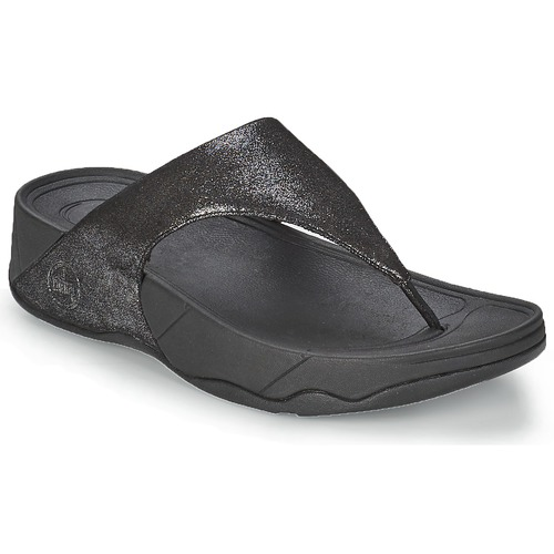 Chaussures Femme Tongs FitFlop LULU SUEDE Noir