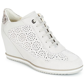 Chaussures Femme Baskets montantes Geox D ILLUSION Blanc