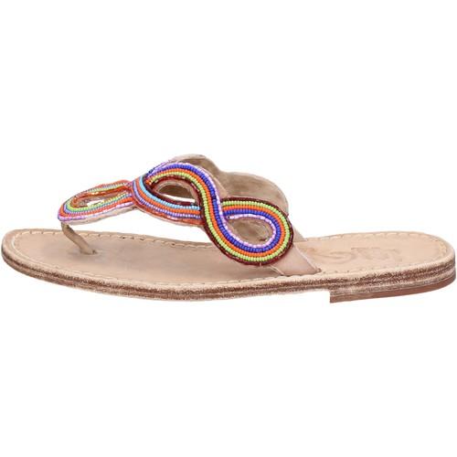 sandales multicolor cuir perline ax895 Eddy Daniele sandales et nu-pieds femme multicolor