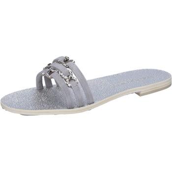 Chaussures Femme Sandales et Nu-pieds Eddy Daniele chaussures femme  sandales gris daim con cristalli swarovski aw2 gris
