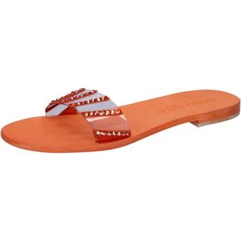Chaussures Femme Sandales et Nu-pieds Eddy Daniele chaussures femme  sandales orange plastica con cristalli swarovs orange