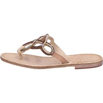 Chaussures Femme Sandales et Nu-pieds Eddy Daniele sandales cuoio cuir perline AS78 marron