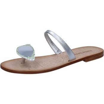 Chaussures Femme Sandales et Nu-pieds Eddy Daniele chaussures femme  sandales argent cuir con cristalli swarovski a argent