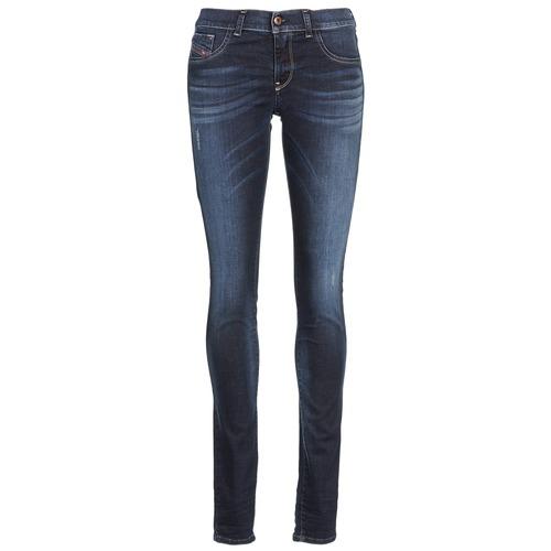 Vêtements Femme Jeans slim Diesel LIVIER Bleu fonc'
