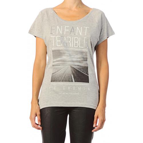 Vêtements Femme T-shirts manches courtes Only T-shirt  Killer Grey