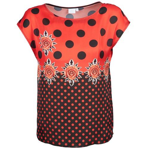 Vêtements Femme T-shirts manches courtes Alba Moda BETTINA Rouge / Noir