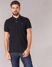 Vêtements Homme Polos manches courtes Gant CONTRAST COLLAR PIQUE Noir