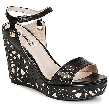 Chaussures Femme Sandales et Nu-pieds Elue par nous RIAZONE Noir