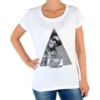 Vêtements Femme T-shirts manches courtes Eleven Paris Tralif W Wiz Khalifa Blanc