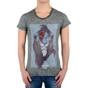 Vêtements T-shirts manches courtes Eleven Paris Tee Shirt Scar SS Mixte Gris