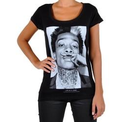 Vêtements Femme T-shirts manches courtes Eleven Paris Wizka W Wiz Khalifa Noir