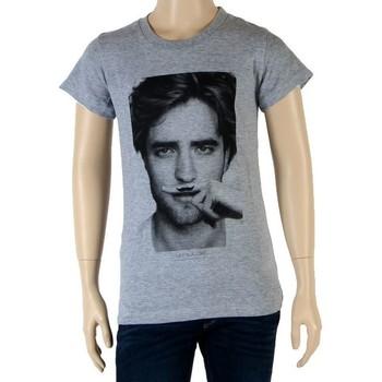 Vêtements Fille T-shirts manches courtes Eleven Paris Fille Little Berty Robert Pattinson Gris