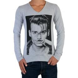 Vêtements Enfant T-shirts manches longues Eleven Paris Tee Shirt  JD LS Mixte (Garçon / Fille) Jonhy Depp Gris