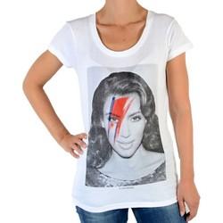 Vêtements Femme T-shirts manches courtes Eleven Paris Kimono W Kim Kardashian Blanc