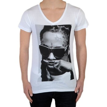 Vêtements T-shirts manches courtes Eleven Paris Tee Shirt Lil SS Mixte Blanc