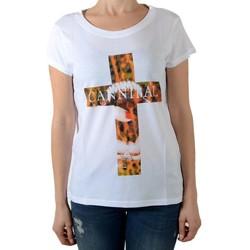 Vêtements Femme T-shirts manches courtes Eleven Paris Damical Blanc