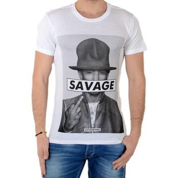 Vêtements Homme T-shirts manches courtes Eleven Paris Savrel M Blanc