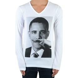 Vêtements T-shirts manches longues Eleven Paris Obama SS Mixte (Garçon / Fille) Barack Obama Blanc